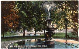 Fountain And Bridge In Waterworks Park - CANTON - OHIO - ( Amerique ) - Non Classés