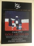 964 -  Nicolas De Staël Exposition 1995  Fondation Pierre Gianadda Dôle Du Valais 1994 Etiquette Neuve - Art