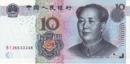 CHINA 10 YUAN 1999 BNL (P898) UNC - China