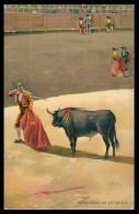 ESPANHA - TAUROMAQUIA -Senalando La Stocada (  Stengel & Co., Dresden Nº 29612)   Carte Postale - Autres