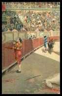 ESPANHA - TAUROMAQUIA - Brindando La Muerte Del Toro (  Stengel & Co., Dresden Nº 29610)   Carte Postale - Autres