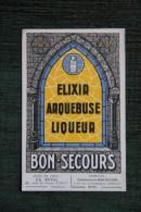 ELIXIR ARQUEBUSE LIQUEUR - BON SECOURS (la Tarentaise ) - Alcools