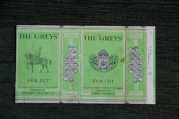 """Paquet De 10 Cigarettes """" THE GREYS  - SILK CUT """" - LONDRES - Etuis à Cigarettes Vides"""