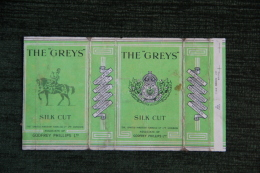 "Paquet De 10 Cigarettes "" THE GREYS  - SILK CUT "" - LONDRES - Empty Cigarettes Boxes"