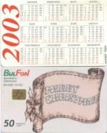 Telefonkarte Bulgarien - BulFon - Weihnachten -  50 Units  -  Kalender 2003 - Bulgarien