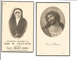 Z 11.ZUSTER  M.  JOACHIM (Melanie  Knaepen) -  °WILDEREN 1976  /  +ANTWERPEN 1944                                     S! - Devotion Images