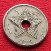 Congo 5 Centimes 1908 - 1885-1909: Leopold II