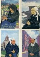 Illustrateur - HOMUALK - Lot De 4 Cartes De Bretagne - Homualk