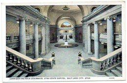 Corridor And Main Staiways, Utah State Capitol, SALT LIKE CITY , UTAH ( Etats Unis ) - Salt Lake City