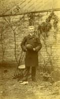 France Lille Homme Au Jardin Ancienne Photo Amateur 1896 - Photographs