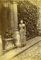 France Rue De Lille ? Jeune Femme Mode 1900 Ancienne Photo Amateur 1896 - Photographs