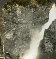 Norvege Cascade A Stalheim Ancienne Photo Stereoscope William Rau 1903 - Stereoscopic