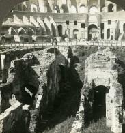 Italie Rome Colisée Partie Soutteraine Dens Ancienne Photo Stereoscope Kelley 1900 - Stereoscopic