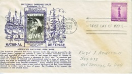 U.S. CROSBY  FDC   COVER NATIONAL DEFENCE - United States