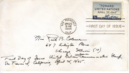 U.S.  FDC   COVER   UNITED  NATIONS - United States