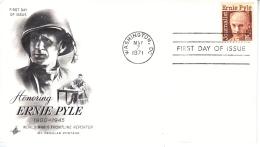 U.S.  FDC   COVER   ERNIE  PYLE  REPORTER - United States