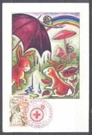 France FDC Carte Maximum Premier Jour YT N°1861 Croix-Rouge 1975 L'automne Oblitération Le Creusot - Maximum Cards