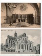 BELGIQUE . BELGIË . LEUVEN . LOUVAIN . ABBAYE DU MONT-CÉSAR & L'ÉGLISE SAINT-PIERRE . 2 CARTES POSTALES - Réf. N°15807 - - Leuven
