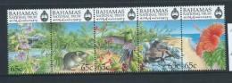 Bahamas 1999 National Trust Wildlife Strip Of 5 MNH - Bahamas (1973-...)
