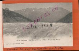 CPA 74  CHAMONIX La Mer De Glace  La Chaine Des AIguilles  Rouges  Personnages   AV 2016 1027 - Chamonix-Mont-Blanc