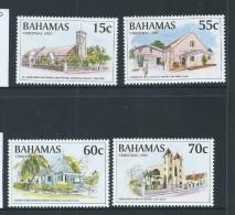 Bahamas 1995 Christmas Churches Set Of 4 MNH - Bahamas (1973-...)