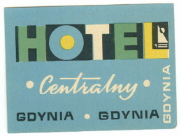 Etiquette Valise Hotel Pologne Gdynia Luggage Label Poland - Etiquettes D'hotels