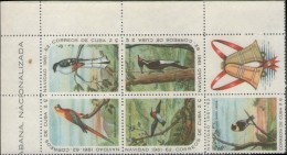CUBA 1961 Birds 6-BLOCK CORNER         [non Dentelé,Geschnitten,no Dentado,non Dentellato,ongetande] - Ungebraucht