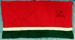 Original Flagge / Fahne  Sowjetrepublik Litauen  -  Material : Baumwolle  -  Ca. 184 X 97 Cm - Schiffe