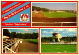 AK Postkarte Stadion Vogelgesang Rathenow FSV Optik Deutschland Stadium Postcard Germany Allemagne Stadio Estadio Stade - Fussball
