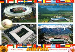 AK Stadion Postkarte Wörthersee-Stadion Klagenfurt Ernst Happel Wien Wals-Siezenheim Salzburg Tivoli Innsbruck 2008 AUT - Fussball