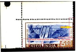 ARCHITECTURE-WATER-DAM-BHAKRA DAM-ERROR WITH A BLOCK OF 4-MNH-INDIA-TP-335 - Architettura