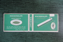 "Etui à Cigarette  , 20 Cigarettes ,  "" MACDONALD´S ""- Manufacture MONTREAL - Empty Cigarettes Boxes"