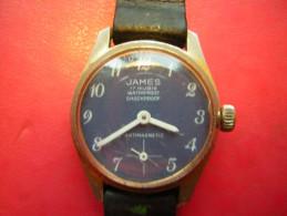 MONTRE   MARQUE JAMES 17 RUBIS  ANTI MAGNETIQUE  WATERPROOF SHOCKPROOF  NE FONCTIONNE PLUS - Montres Modernes
