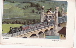 Passau, Eisenbahnbrücke Mit Zug - Passau