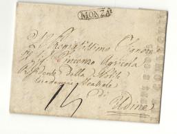 Italie - Monza Pour Udine (Lombardie Venetie) - 1823. DRAMATICA COMPAGNIA . THEATRE - Italie