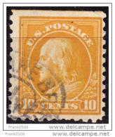 United States 1912, Ben Franklin, 10c, Used - Usati