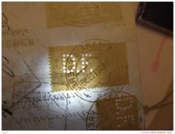 Perforé, Perfin, Lochung -  D.F. ( Desmarais Frères ) 1930 Sur Document Fiscal, Fiscaux        2 Scans - Perforés