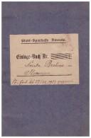 Sparbuch Ilmenau 1921-23 , Frieda Brehme , Bank , Sparkasse !!! - Ilmenau