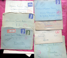 15 ENVELOPPES AVEC PARFOIS DES LETTRES  CENSUREES Ae  TIMBRES A L´EFFIGIE DE HITLER  HANOVRE ALLEMAGNE  DEUTSCHLAND 1943 - Allemagne
