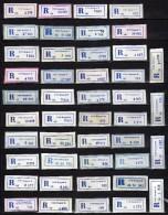 Belgrade In Yugoslavia Lot 44 Different R-Zettel ( R-List ).1988 - 1989 - Serbia