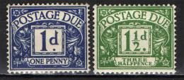GRAN BRETAGNA - 1959 - POSTAGE DUE - VALORI DA 1 E 1 1/2 P. - CORONE MULTIPLE - NUOVI MNH - Steuermarken