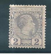 Monaco  Timbre De 1885   N°2   Neuf *  Petite  Charnière Cote 82 € - Monaco