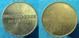 03293 GETTONE TOKEN JETON PARKING PFARRGEMEINDE ST. MARTIN - Zonder Classificatie