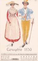 VIe Fête Cantonale Des Musiques Fribourgeoises, Bulle 1930. Festival Grevire. Jeu De Fête De Jos. BOVET - Fêtes - Voeux