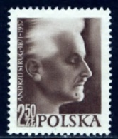 Polen 1957, Poland, Polska, Pologne, Andrzu Strug, SG 1042, YT 918, MNG