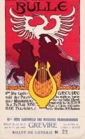 6e Fête Cantonale Des Musiques  Bulle 1930. Festival Grevire. Jeu De Fête De Jos. BOVET . Signée Steph. Demierre - Fêtes - Voeux