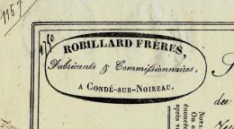 LETTRE DE VOITURE ROULAGE TRANSPORT ROBILLARD Fres CONDE SUR NOIREAU LA FERTE MACE ET FLERS  1850 Pour MONTLIEU .V.SCANS - 1800 – 1899