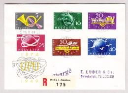 Schweiz Werbe 16.5.1949 Schweiz.PTT Museum Bern #291-296 Auf UPU R-FDC Brief Nach Zürich - Schweiz