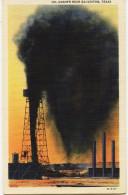 12851 -  U.S.A.  - Texas -  GALVESTON : OIL GUSHER NEAR  GALVESTON    Circulée En 1936 - Galveston
