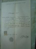 D137988.36 Old Document   Hungary    Gábor KRISZNER - Borbála GÁL - Máramarossziget Sighetul M. 1877 - Engagement